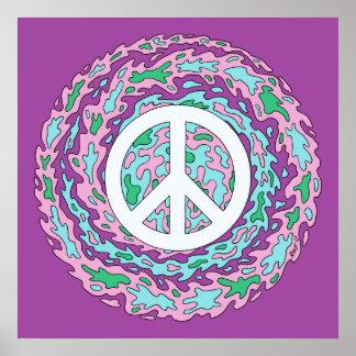 Affiche psychédélique de paix