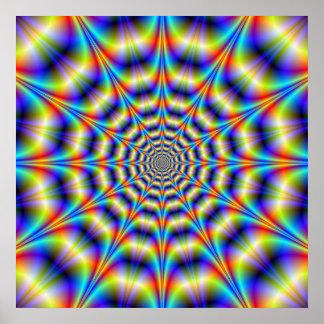 Affiche psychédélique de roue
