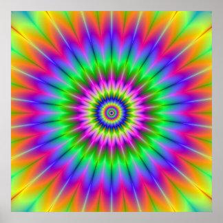Affiche psychédélique de supernova