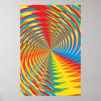 Affiche : Résumé/motif radial psychédélique