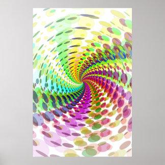 Affiche : Spirale abstraite/psychédélique
