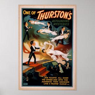 Affiche stupéfiante de magie des mystères de poster