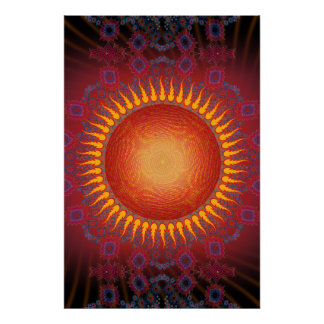 Affiche : Sun psychédélique : Conception en spiral