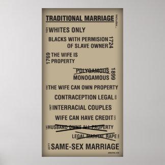 Affiche traditionnelle de mariage