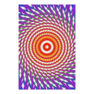 Affiche Trippy : Illustration en spirale psychédél