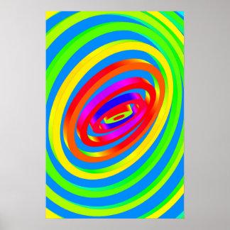 Affiche Trippy : Psychédélique abstrait