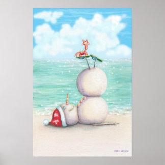Affiche tropicale de yoga par conception d'idyl-wy poster