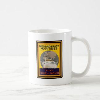 Affiche vintage 22 de voyage tasse à café