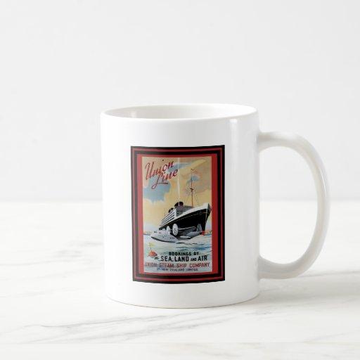 Affiche vintage 47 de voyage tasses