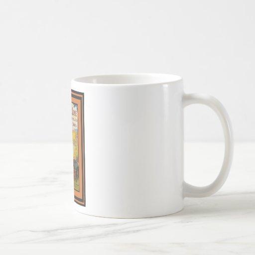 Affiche vintage 52 de voyage mug à café