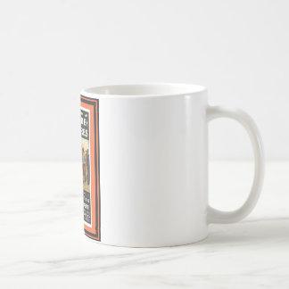Affiche vintage 57 de voyage tasse à café