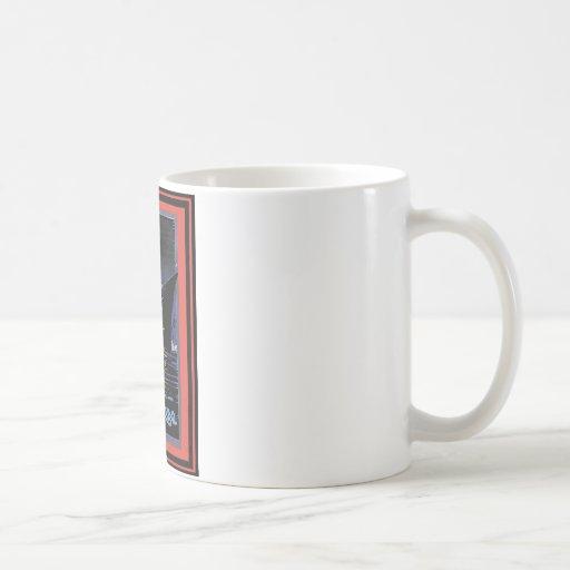 Affiche vintage 61 de voyage mug à café