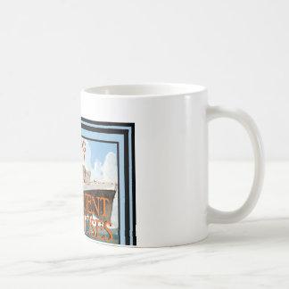 Affiche vintage 66 de voyage tasse à café