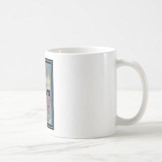 Affiche vintage 7 de voyage mug à café