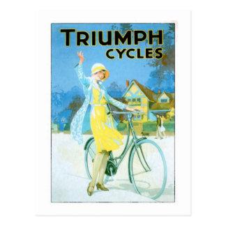 Affiche vintage de bicyclette de cycles de Triumph Cartes Postales