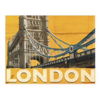 Affiche vintage de Londres Carte Postale