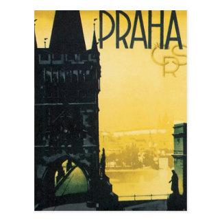 Affiche vintage de Praha Cartes Postales