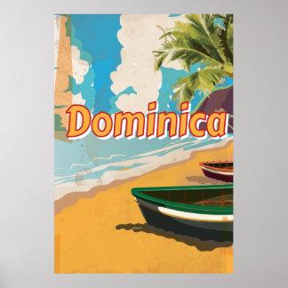Affiche vintage de vacances de la Dominique