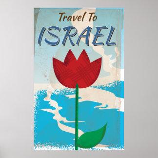 Affiche vintage de vacances de l'Israël