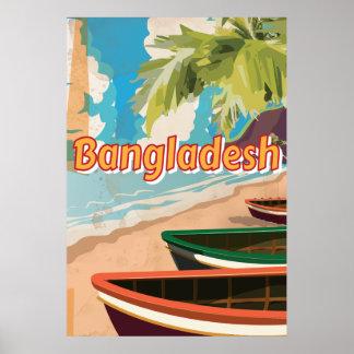 Affiche vintage de vacances du Bangladesh