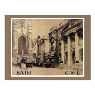 Affiche vintage de voyage de Bath rare Carte Postale