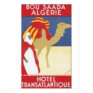 Affiche vintage de voyage de Bou Saada Algerie Carte Postale