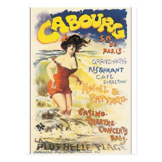 Affiche vintage de voyage de Cabourg Carte Postale