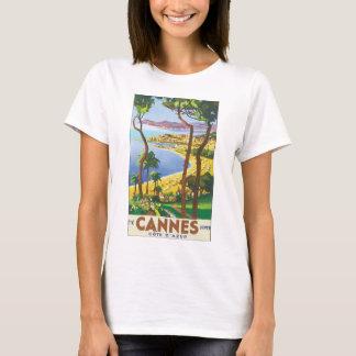 Affiche vintage de voyage de Cannes Cote d'Azur T-shirt