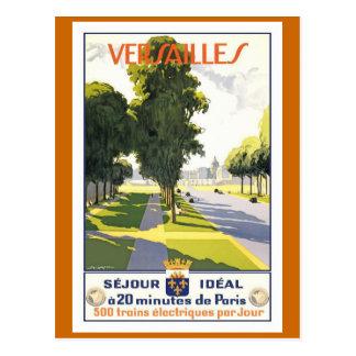 Affiche vintage de voyage de Français de Cartes Postales