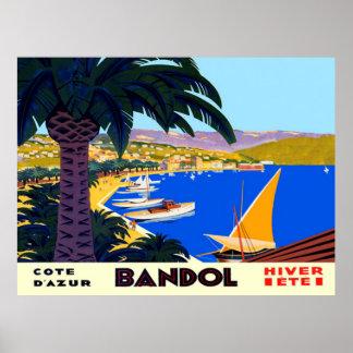 Affiche vintage de voyage de Français de Cote Poster