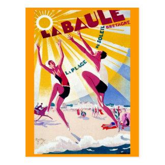cartes postales vintages de plage