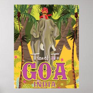 Affiche vintage de voyage de Goa Inde