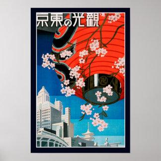 Affiche vintage de voyage de Japonais de 2ÈME