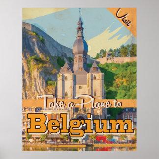 Affiche vintage de voyage de la Belgique