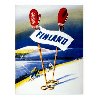 Affiche vintage de voyage de la Finlande Carte Postale