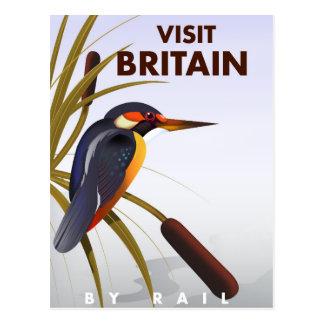 Affiche vintage de voyage de la Grande-Bretagne de Carte Postale