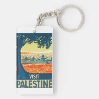 Affiche vintage de voyage de la Palestine de Porte-clés