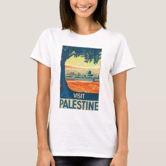 Affiche vintage de voyage de la Palestine de T-shirt