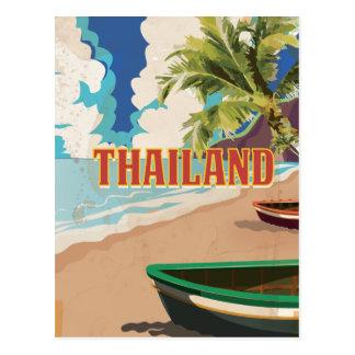 Affiche vintage de voyage de la Thaïlande Carte Postale