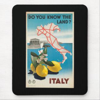Affiche vintage de voyage de l'Italie - de Tapis De Souris