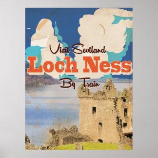 Affiche vintage de voyage de Loch Ness