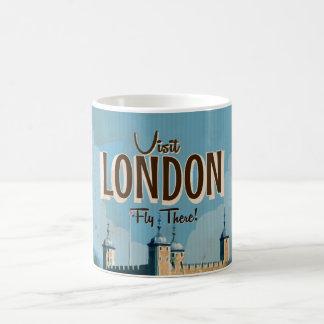 Affiche vintage de voyage de Londres Mug Blanc