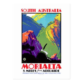 Affiche vintage de voyage de Morialta d'Australie Carte Postale