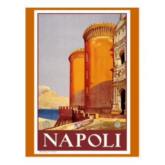 """Affiche vintage de voyage de """"Naples"""" Cartes Postales"""