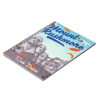 Affiche vintage de voyage de style du mont carnet