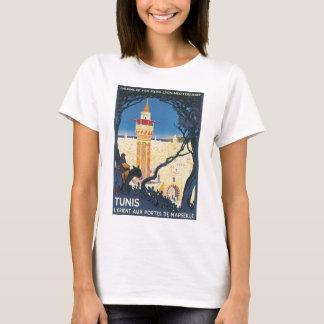 Affiche vintage de voyage de Tunis T-shirt