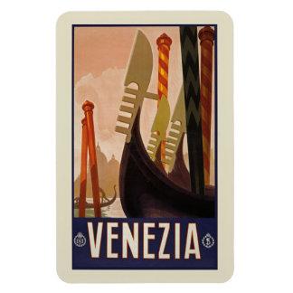 Affiche vintage de voyage de Venezia   Venise Magnet Flexible