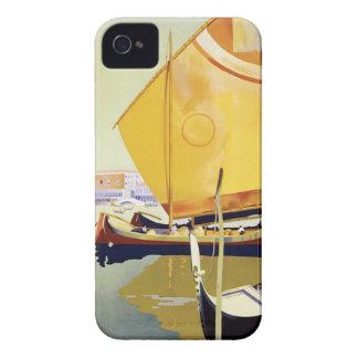 Affiche vintage de voyage de Venise Coque iPhone 4 Case-Mate