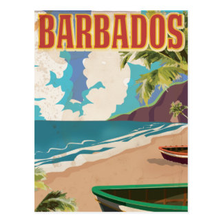 Affiche vintage de voyage des Barbade Carte Postale