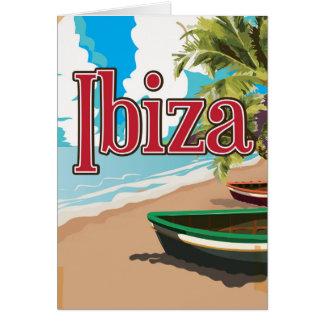 Affiche vintage de voyage d'Ibiza Carte